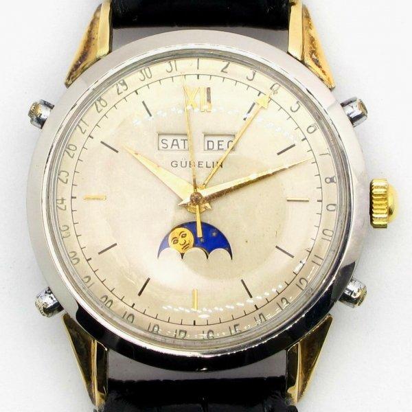 gubelin, watch. vintage, 2-tone