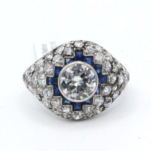 diamond, ring, vintage, cocktail