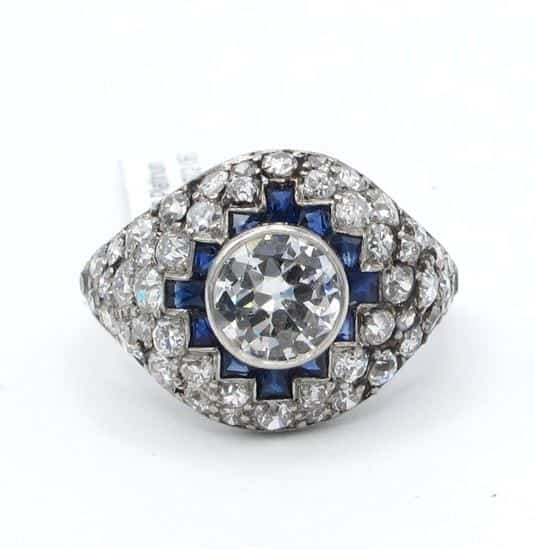 diamond, ring, vintage, cocktail