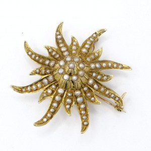 starfish, vintage, brooch