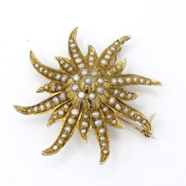 starfish, vintage, brooch