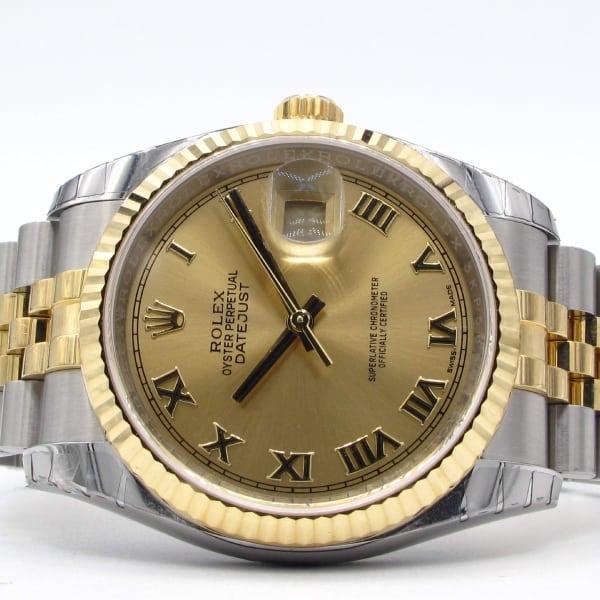 rolex, 2-tone, watch