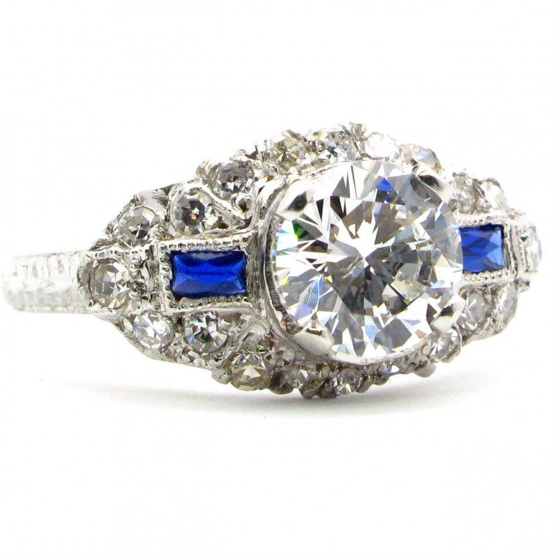 ring, diamond, sapphire, engagement ring
