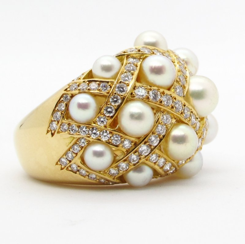 chanel metellaise, chanel, ring, diamond, pearl