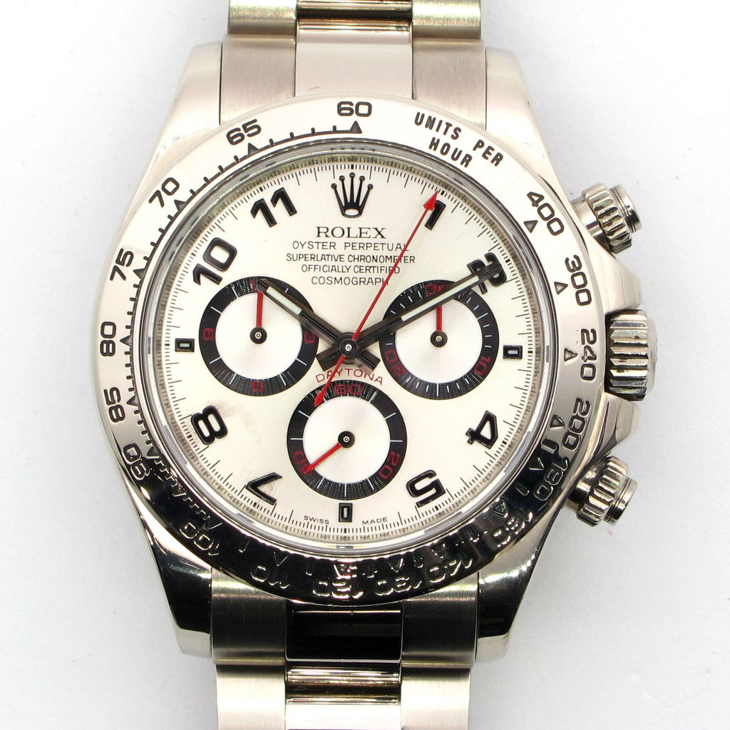 Rolex Daytona 116509 Cosmograph 18k White Gold Tachymeter Watch 40mm Z Serial